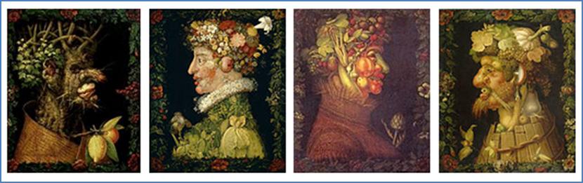 Figure 3 : Les quatre saisons, Giuseppe ARCIMBOLDO, 1573 [10]
